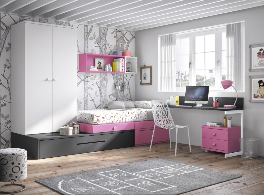 Nuevos muebles juveniles de glicerio chaves un mundo de color blog - Distribucion habitacion juvenil ...