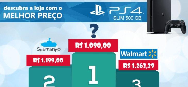 O melhor preço de PS4 na Santa Ifigênia