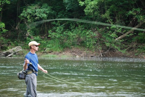 Bass Fly Fishing on the Shenandoah River