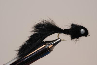 Murray's Black Madtom Sculpin Streamer