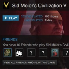 1001 Hours of Sid Meier's Civilization V