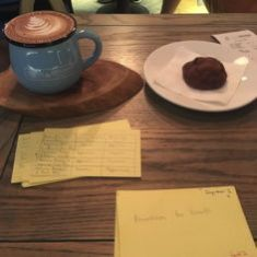 Coffee Cookie And Cards