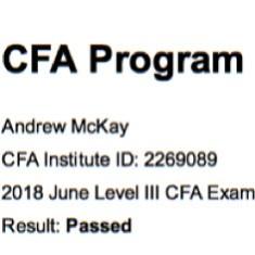 Passed All 3 CFA® Exams