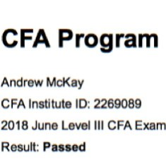Passed CFA Level 3 Exam