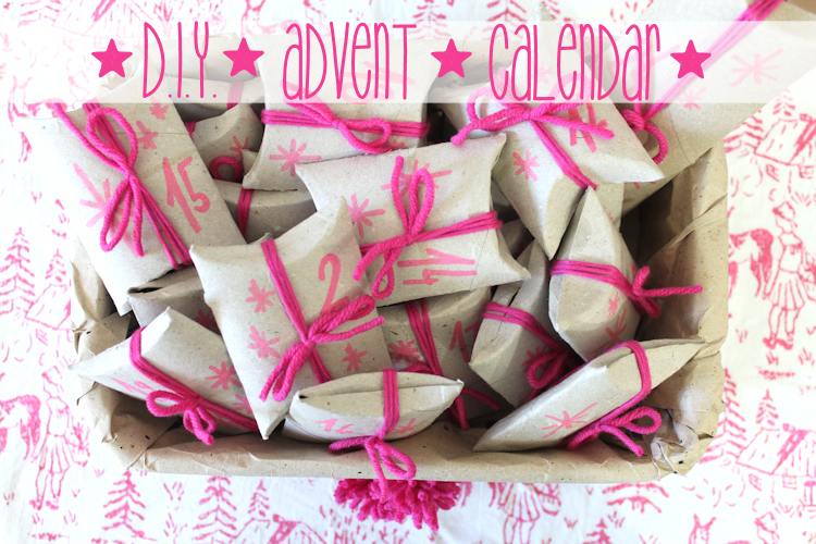 DIY Adventskalender Upcycling