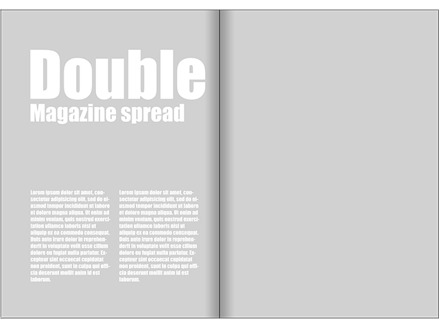magazine double cover size for architectural photography