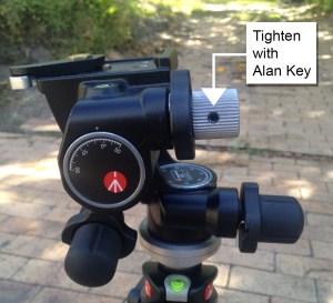 Manfrotto 410 geared head alan key