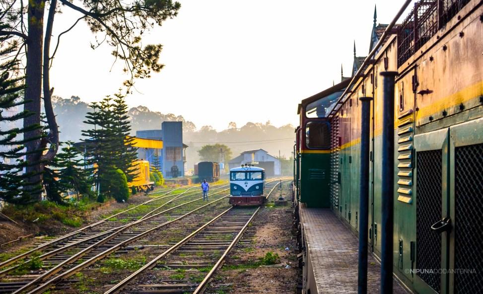 photo of a railway motor trolley