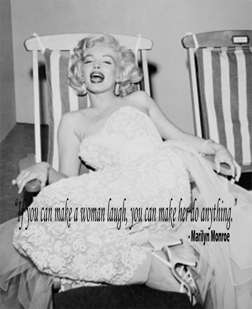 Marilyn Having A Laugh On Deckchair by Frank Worth