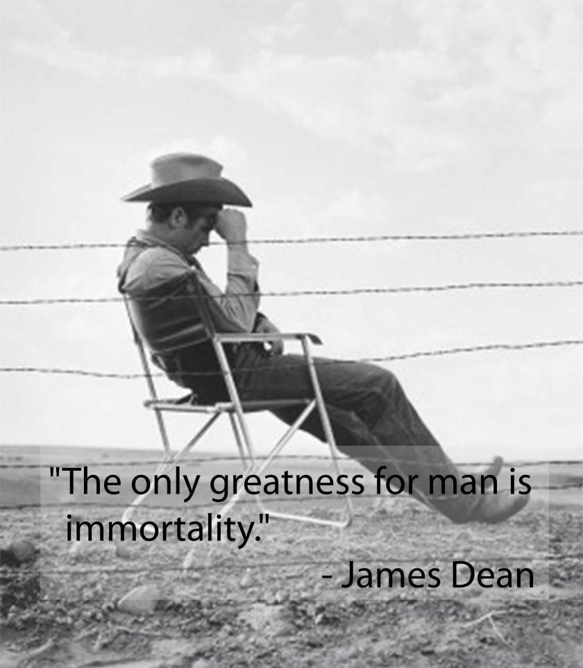 James Dean Seated Behind Fence Set of Giant by Frank Worth