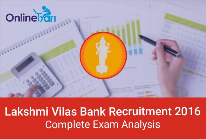 Lakshmi Vilas Bank PO Clerk Exam Analysis and Expected Cutoff 2016