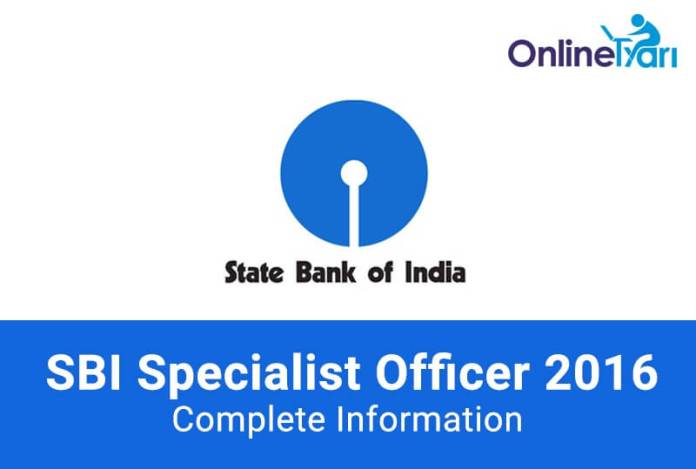 SBI-SO-Recruitment-2016