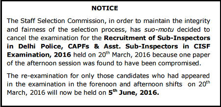 SSC-CPO-Exam-Cancelled-Notification-2016