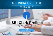 SBI Clerk Prelims All India Test 2016: Apply Now