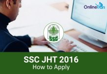 SSC JHT 2016 - How to Apply