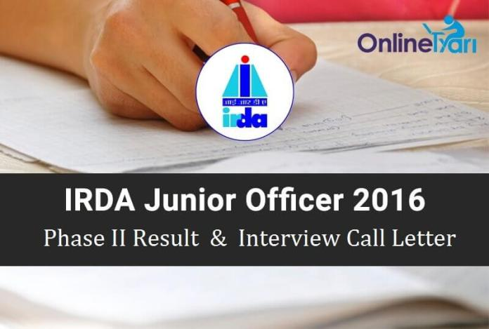 IRDA-JO-Phase-II-Result-Download-Interview-Call-Letter