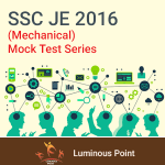 SSC JE Mechanical 2016 Mock Test