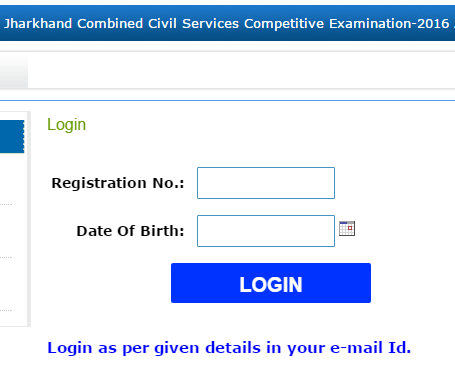 6th JPSC Admit Card