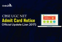 CBSE UGC NET Admit Card Notice: Official Update (January 2017)