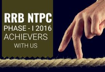 RRB NTPC Phase-I 2016 Achievers with Us