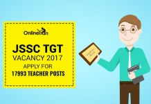 JSSC TGT Vacancy 2017: Apply for 17993 Teacher Posts