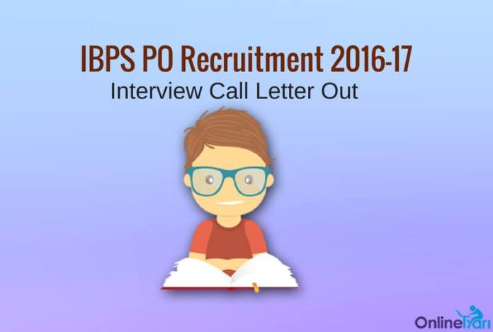 IBPS PO Interview Call Letter 2016