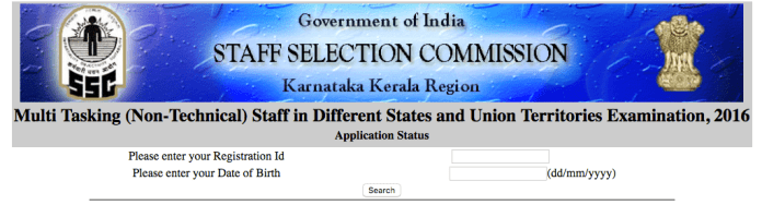 ssc mts application status