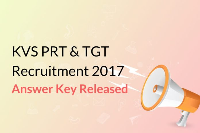 KVS PRT, TGT Answer Key 2016: Download your OMR Sheet