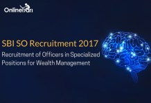 SBI SO 2017 Recruitment: Read Complete Information