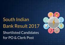 South Indian Bank Result 2017 Declared for PO & Clerk Post
