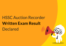 HSSC Auction Recorder Written Exam Result Declared