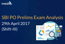 SBI PO Prelims Exam Analysis, Review: 29 April 2017 (Shift 3)