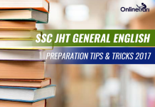 SSC JHT General English Preparation Tips & Tricks 2017