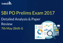 SBI PO Prelims 7th May 2017 (Shift 1) Exam Analysis, Review