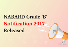 NABARD Grade B Notification 2017 Released
