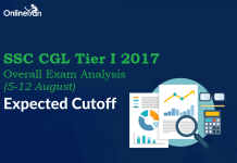 SSC CGL Tier 1 Overall Exam Analysis: 5-12 August 2017
