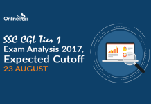 SSC CGL Tier 1 Exam Analysis 2017, Expected Cutoff: 23 August