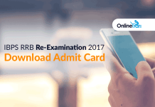 IBPS RRB Re-Examination 2017: Download Admit Card/ Hall Ticket