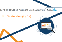 IBPS RRB Assistant Prelims Exam Analysis, 17th September Shift 4