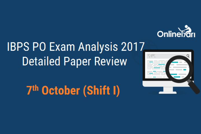 IBPS PO Prelims 2017 Exam Analysis: 7 October (Shift 1)