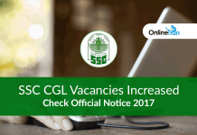 SSC CGL Vacancies Increased: Check Official Notice 2017