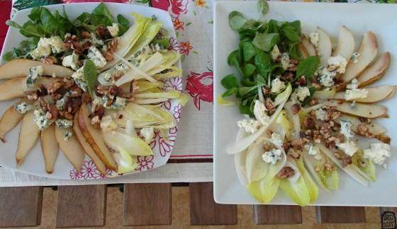 Podzimní salát s čekankou a hruškami