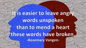 Angry Words Unspoken