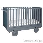 Convertible crib in dark grey