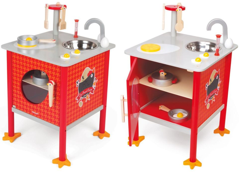 janod kitchen toy with oven and hob