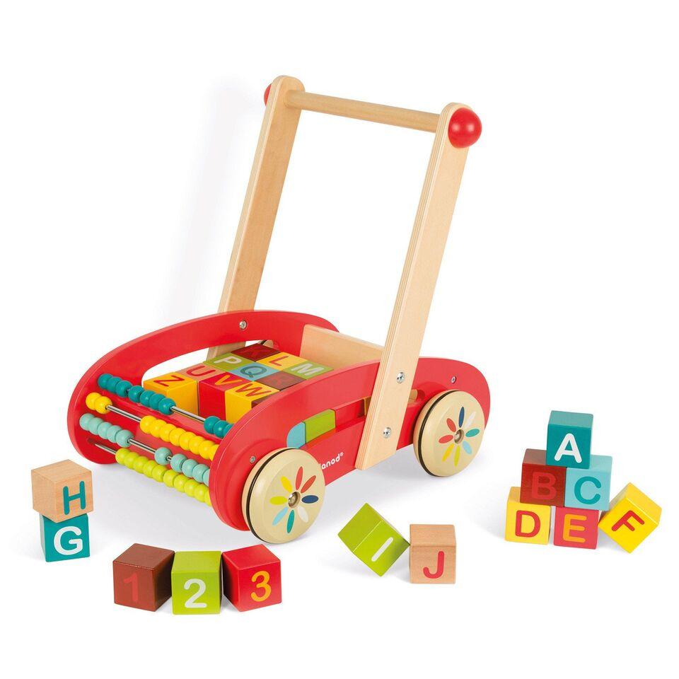 best 3 in 1 toys for kids walking trolley blocks abacus