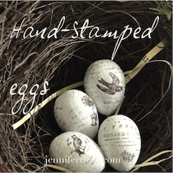 stamped eggs