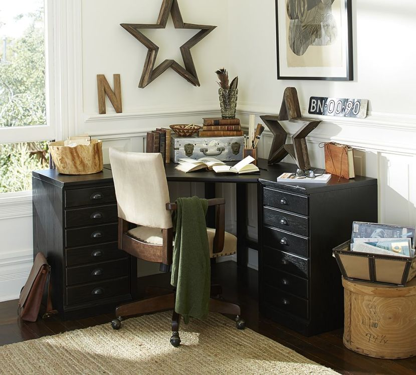 How to design your home office for improved productivity pottery barn - Pottery barn office desk ...