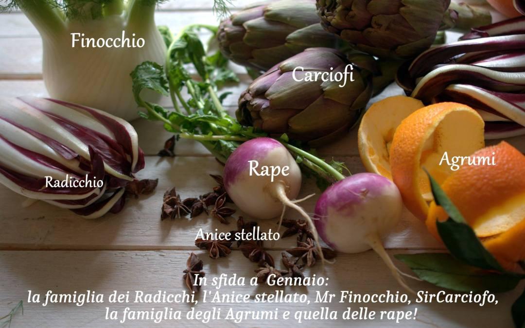 Concorso di gennaio : Radicchi, Agrumi, Rape, Finocchio, Carciofo e Anice Stellato!