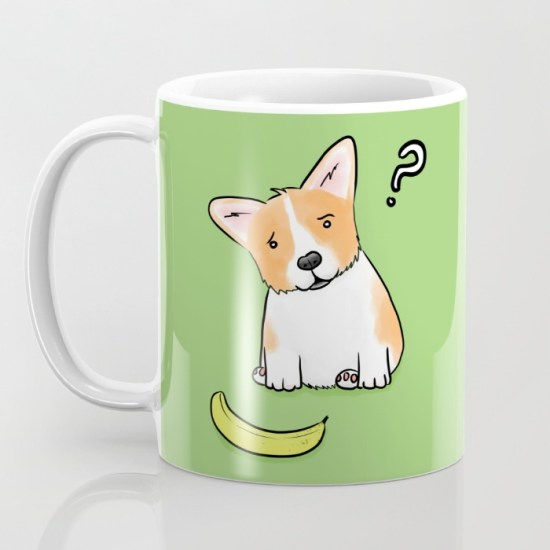 Suspicious Corgi mug